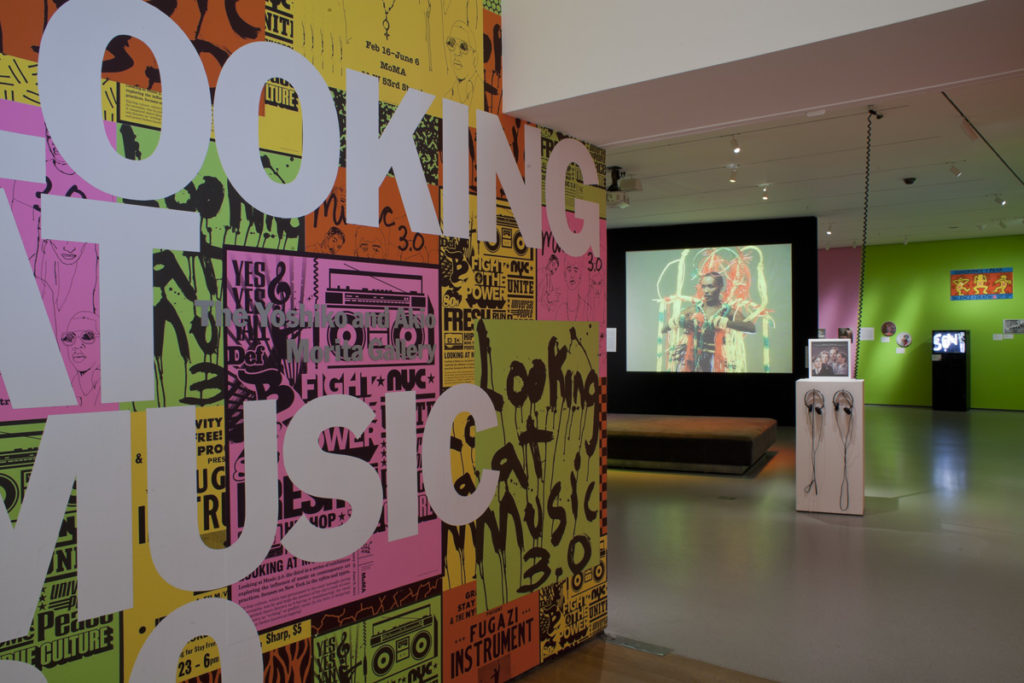2011 Looking at Music 3.0 title wall.