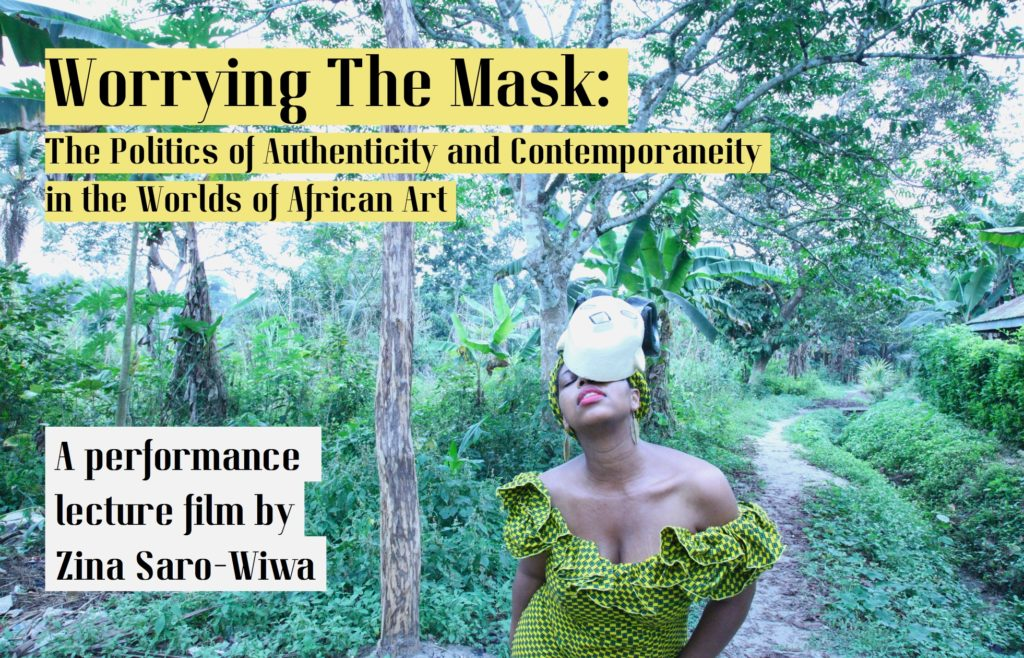 Worrying the Mask: The Politics of Authenticity and Contemporaneity in the Worlds of African Art. 2020. Photo: Courtesy the artist