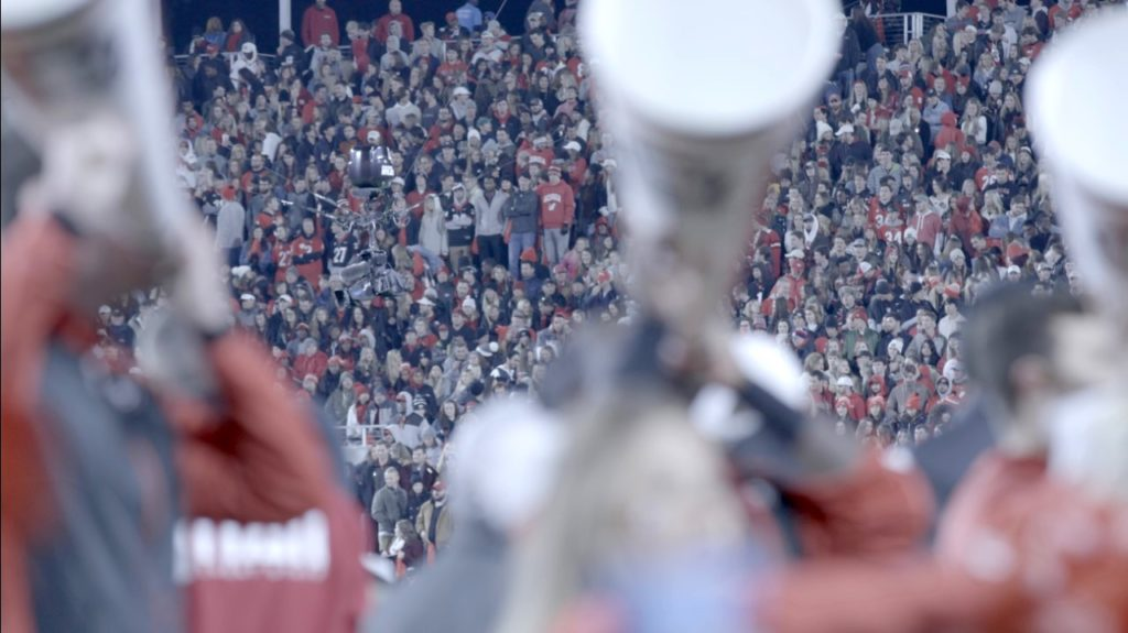 Paul Pfeiffer: University of Georgia Redcoat Band Live (Sanford Stadium, University of Georgia, Athens). 2019.