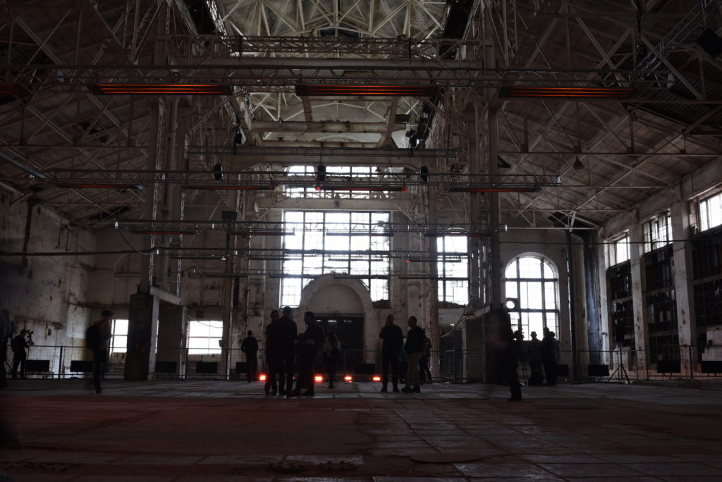 Transmission, Geometry of Now, 2017. Twenty-three-channel sound installation. Commissioned by GES-2, V-A-C Foundation for a week-long art and sound festival within the raw, emptied spaces of the decommissioned power station on the Bolotnaya Embankment, in the Yakimanka District of Moscow. Made in collaboration with Tony Myatt. Photo: Jana Winderen.
