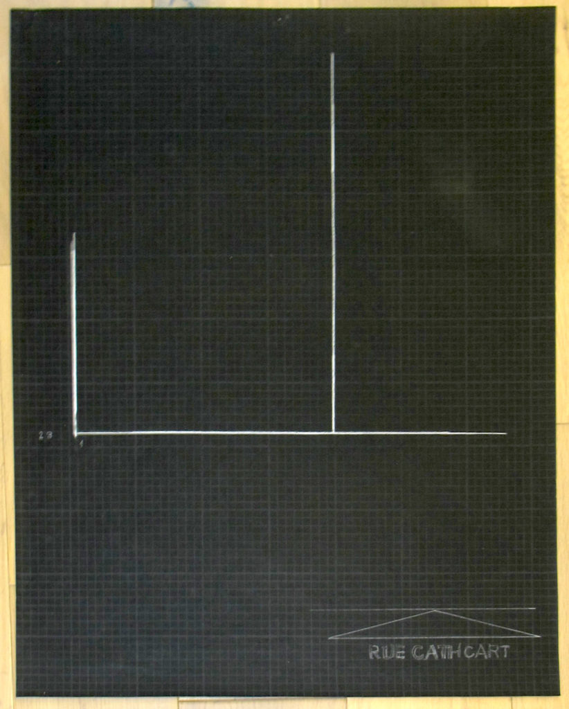 Marina Rosenfeld, Free Exercise (Manifesto), 2016, pencil on paper