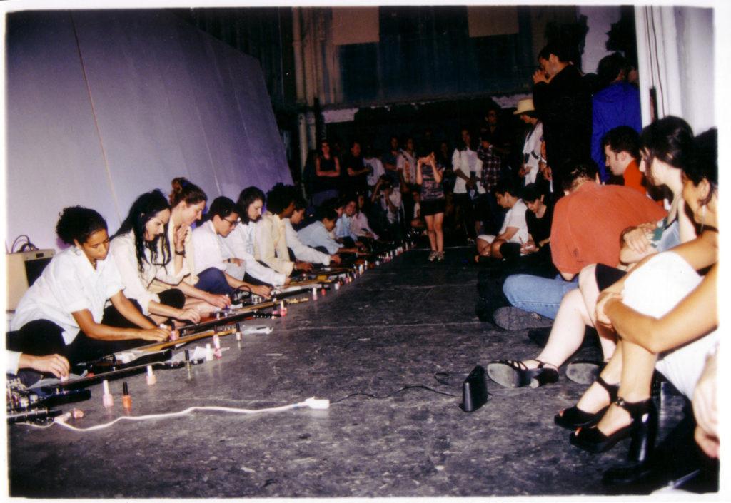 Sheer Frost Orchestra, performance view, Kunstraum Innsbruck, Austria, 2000
