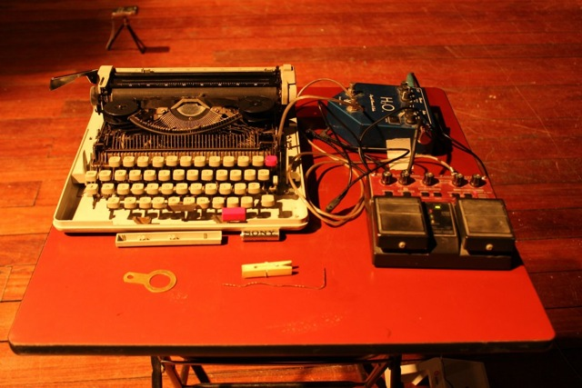 Sister. 2012. Installation. Typewriter, contact microphone, boss rc-20 looper Dimensions variable  Photo: courtesy the artist