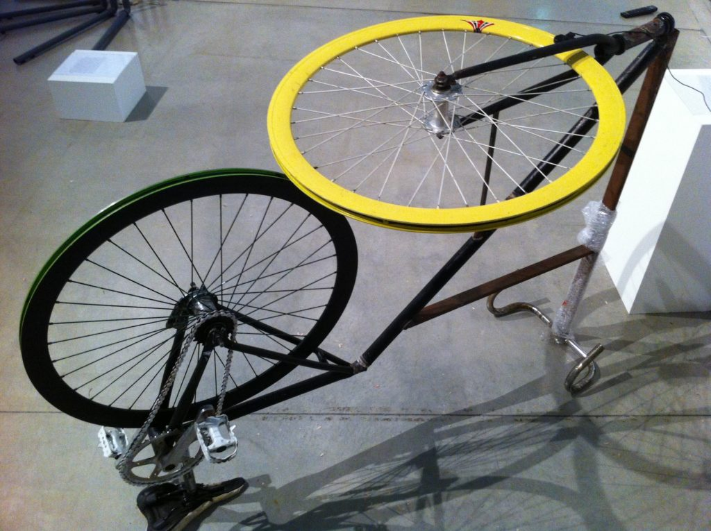 The Recycle. 2012. Installation Used fixed gear bicycle Dimensions variable Photo: courtesy the artist