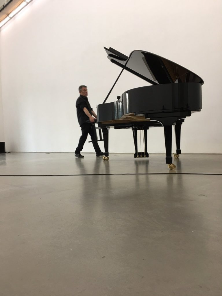 Deathstar Orchestration, performance view with Marino Formenti, piano, Donaueschinger Musiktage, October, 2017